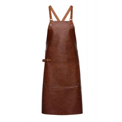 Dark Brown Back Strap Leather Apron