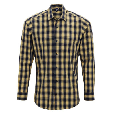 Camel/Navy Check Shirt