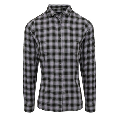Steel/Black Check Blouse