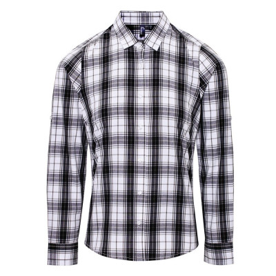 Black/White Check Blouse