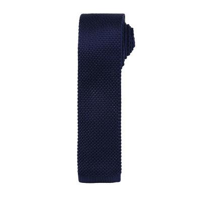 Navy Slim Knitted Tie