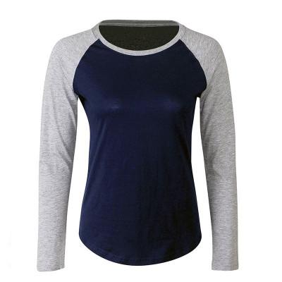 Womens Navy/Grey Baseball T-Shirt